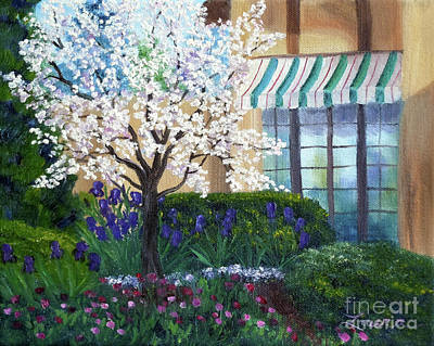 Painting - Blossoming Tree At Ainsley House by Laura Iverson