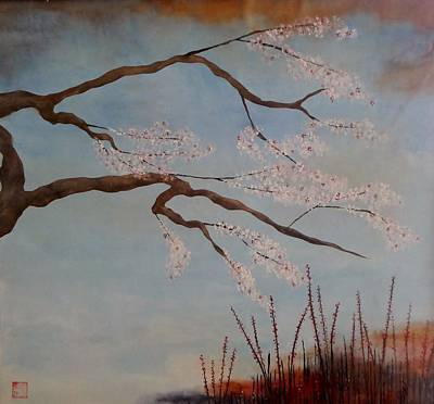 Blossoms Over The Lake Art Print by Catherine JN Christopher