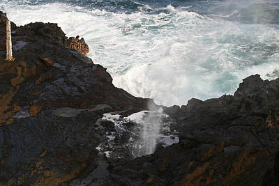 Halona Blowhole Photograph - Blowhole by Will Cornell