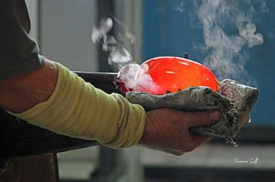 Art Blown Glass Photograph - Blowing Glass IIi by Suzanne Gaff