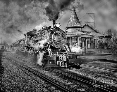 Blowing Off Some Steam Art Print by Susan Candelario