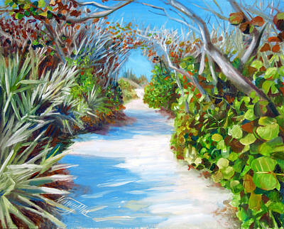 Palmetto Painting - Blowing Rocks by Nancy Tilles
