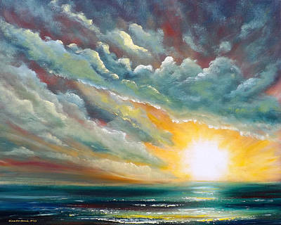 Sunsets Painting - Blown Away by Gina De Gorna