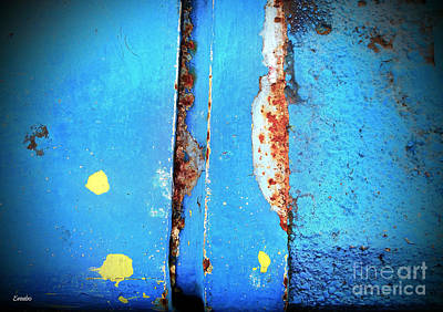 Photograph - Blue Abstract by Eena Bo