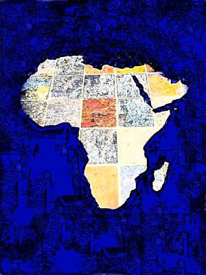 Blue Africa Art Print by Anne Mott