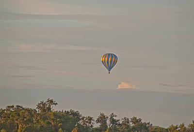 Photograph - Blue And Gold Balloon by John Black