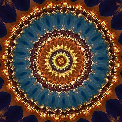 Fractal Wall Art - Photograph - #blue And #orange #fractalart On by Pixie Copley