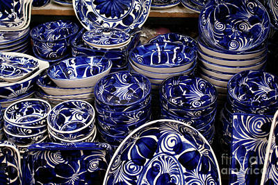 Nirvana - BLUE AND WHITE POTTERY Mexico by John  Mitchell
