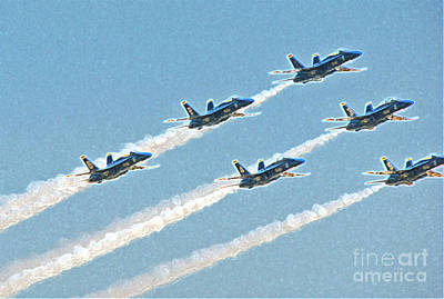 Photograph - Blue Angels 4 by Morgan Wright