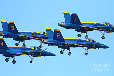 Blue Angels F-18 Super Hornet . 7d7990 Art Print by Wingsdomain Art and Photography