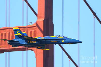 Photograph - Blue Angels F-18 Super Hornet . 7d8045 by Wingsdomain Art and Photography
