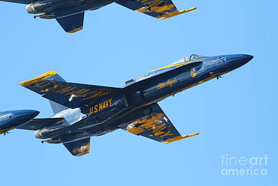 Blue Angels F-18 Super Hornet . 7d8132 Art Print by Wingsdomain Art and Photography