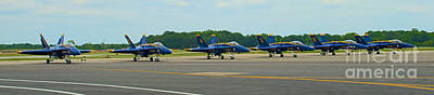 Photograph - Blue Angels On Tarmac by Mark Dodd
