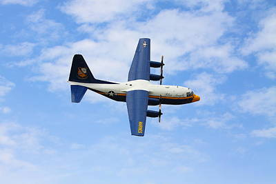 Photograph - Blue Angles C130 by Kevin Schrader