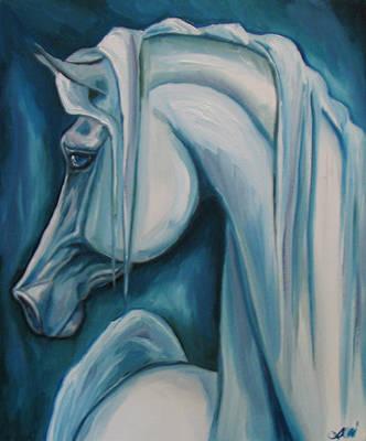 Horse Giclee Painting - Blue Arabian by Leni Tarleton