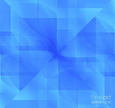 Unreal Digital Art - Blue Background by Yali Shi
