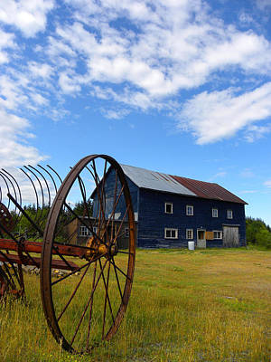 Photograph - Blue Barn by Joshua McCullough