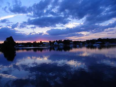 Photograph - Blue Sky At Night by Judy Wanamaker