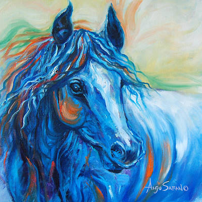 Blue Beauty Art Print by Anju Saran