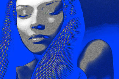 Celebration Digital Art - Blue Beauty by Naxart Studio