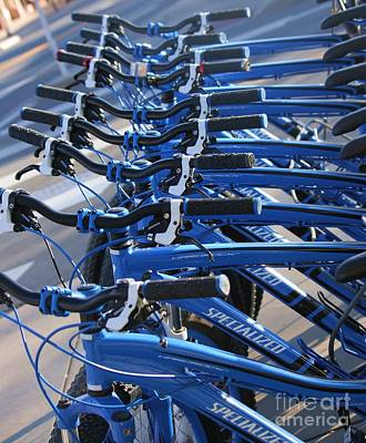 Photograph - Blue Bikes by Julie Lueders