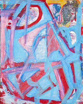 Blue Bin  Art Print by Brooks Blackwood