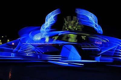 Sizzlers Photograph - Blue Blur by Ed Lukas