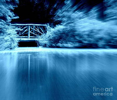 Blue Bridge Art Print by Maria Scarfone