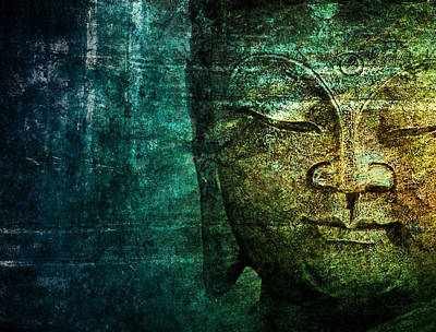 Blue Buddha Art Print by Claudia Moeckel