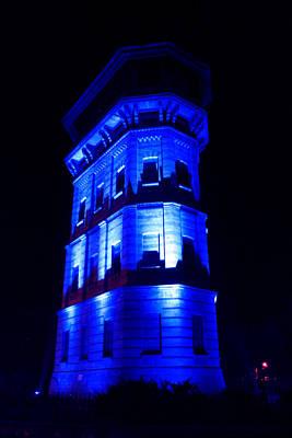 Blue Building Art Print by Ion Para