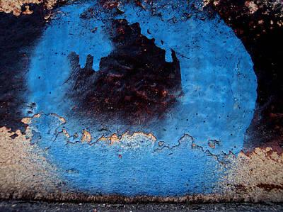 Blue Circle  Art Print by Ludmil Dimitrov
