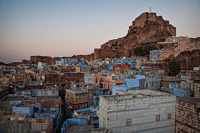 Y120817 Photograph - Blue City Of Jodhpur At Dusk by Rachel Carbonell