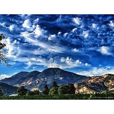 Vineyard Wall Art - Photograph - Blue Clouds Over Mt St Helena by Peter Stetson