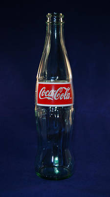 Cocacola Photograph - Blue Coke by Skip Willits