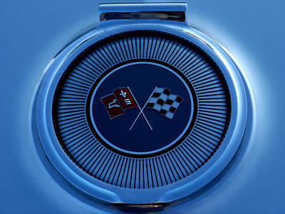 Ornament Digital Art - Blue Corvette Badge by Douglas Pittman