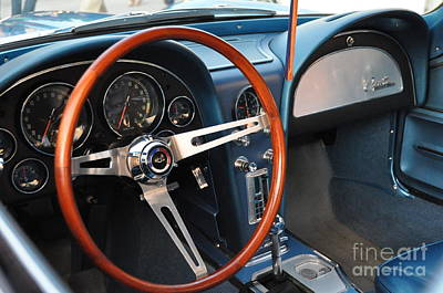 Photograph - Blue Corvette Stingray Dash by John Black