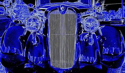 Blue Coupe Art Print by J R Seymour