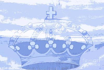 Blue Crown Children's Art Art Print