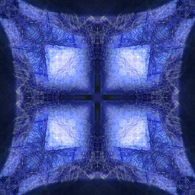 Blue Crystal Art Print by Joe Halinar