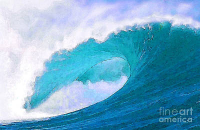 Sea Painting - Blue Curl by Paul Topp