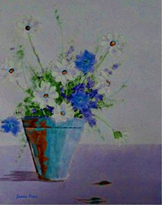 Painting - Blue Daisies by Jamie Frier