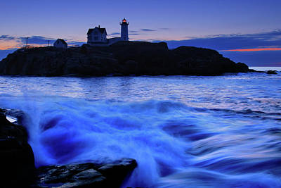 Cape Neddick Lighthouse Photograph - Blue Dawn by Rick Berk