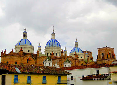 Immaculate Photograph - Blue Domes Of Cuenca by Al Bourassa