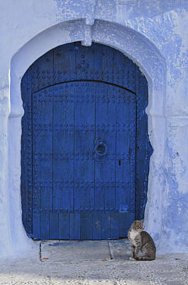 Y120831 Photograph - Blue Door by Dave Stamboulis Travel Photography