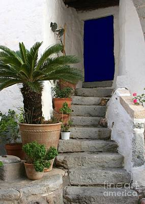 Photograph - Blue Door In Greece by Sabrina L Ryan