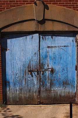 Photograph - Blue Doors by Bob Whitt