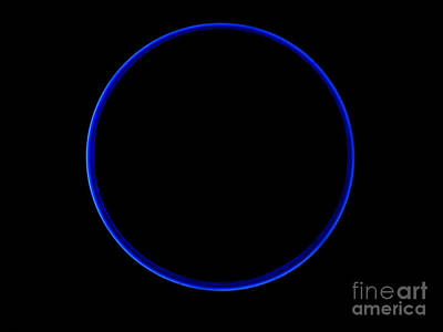 Photograph - Blue Eclipse by Mark Holbrook