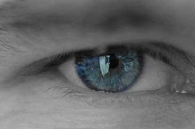 Photograph - Blue Eye Reflections by Rafael Figueroa