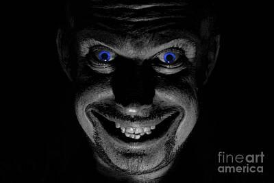 Blue Eyed Demon Art Print by Guy Viner