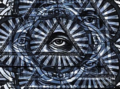 Eye Of Providence  Art Print by Chris Berry